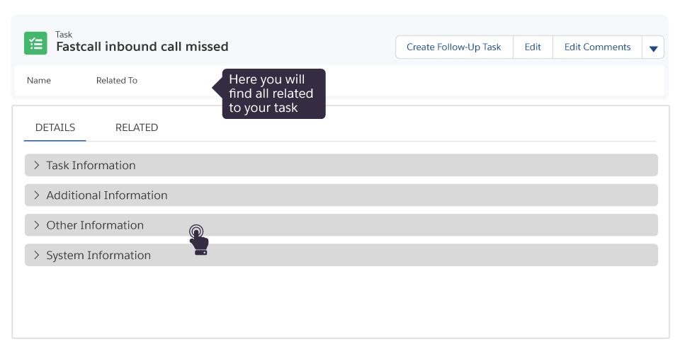 Task details