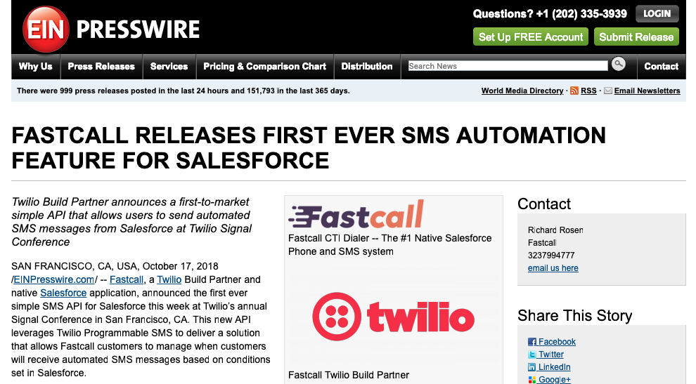 Fastcall - Salesforce Phone Dialer and SMS, Twilio-powered
