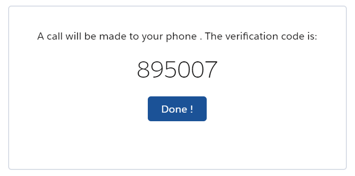 Verifying phone numbers
